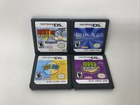 Nintendo DS Game Lot Of 4 Brain Age Games for Kids Carts Only Authentic Tested