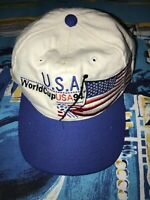 Vtg 1994 FIFA WORLD CUP SOCCER Team USA NATIONAL APEX ONE Hat Futbol Wool Blend