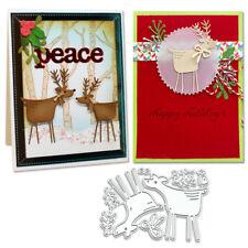 Deer Shape Cutting Dies Stencil Scrapbooking Embossing Card Craft Decor DIY