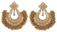 Indian Earrings Bollywood Jhumka Jhumki Wedding Gold Plated Festival Jewelry