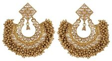Indian Earrings Bollywood Jhumka Jhumki Polki Wedding Gold Plated Jewelry