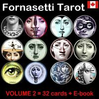 fornasetti tarot card cards deck rare major arcana vintage oracle book guide set