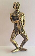 HOMME GROS ZIZI PHALLUS statuette amulette laiton pendentif Thaïlande Asie z5