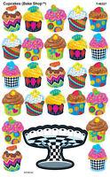 200 Cupcakes (The Bake Shop) SuperShapes Teacher Reward Stickers - Large