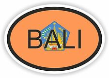 Bali Indonesia Country Code Oval With Flag Sticker for Bumper Laptop Hard Hat PC