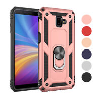Hybrid Protective Hard Case with Ring Holder Stand For Samsung Galaxy J6 J4 Plus