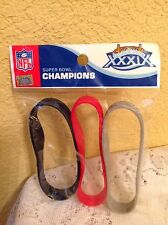 NEW ENGLAND PATRIOTS SUPER BOWL XXXIX CHAMPIONS BRACELET WRIST BAND 3-PACK NFL