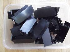 10 Lego Black Panel Corner Wall Pieces Castle Dragon Knight Build 2345