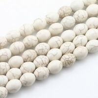 Wholesale Natural Howlite Turquoise Gemstone Egg shape Loose Beads 15.5''