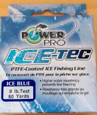 Power Pro Ice-Tec PTFE-Coated Ice Fishing Line ICE Blue 8lb 50 yards