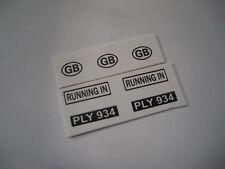 Corgi 302  M.G. MGA Sports Car Stickers - B2G1F