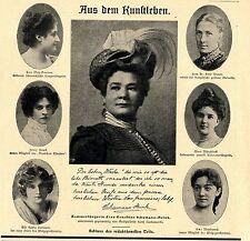 Camera cantante signora Ernestine Schumann-Heink tra l'altro documento immagine di 1902