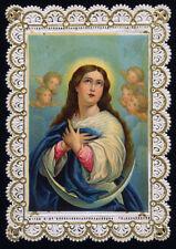 santino merlettato-holy card-canivet IMMACOLATA CONCEZIONE