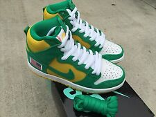 Nike Dunk High Pro SB X Anonymous Sz 4.5 Stadium Green Black Speed Yellow NIB