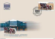 LATVIA / LETTLAND 2017 old car  history automobile 1903  FDC