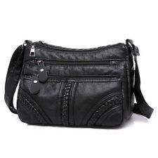 Women Leather Shoulder Bag Multi-layer Messenger Bag High Quality Small Soft Bag