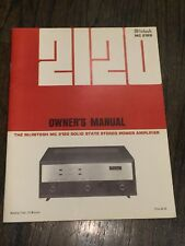 McIntosh 2120 ORIG VINTAGE OWNER'S MANUAL