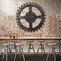 Wooden Gear Wall Art Industrial Antique Vintage Chic Home Bar Decor Widget  ❤ !