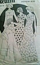 **Vintage Sewing Pattern**Ladies Dress**Long Sleeves/Sleeveless**Maxi**