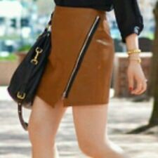ZARA FAUX LEATHER MINI SKIRT WITH ZIP DETAIL SIZE SMALL B10 REF: 2398 021