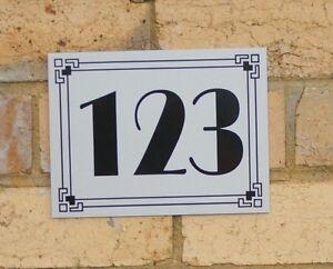 Custom House Number Address Plaque 20 x 15 cm  Personalised Door Number Mailbox