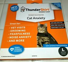 ThunderShirt Insanely Calm Anti-Anxiety Jacket  for Cats Size Large - Solid Gray