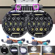 "For Jeep Liberty Patriot CJ5/7 7""LED Projector Headlight H4-H13 H6024 Hi/Lo Lamp"