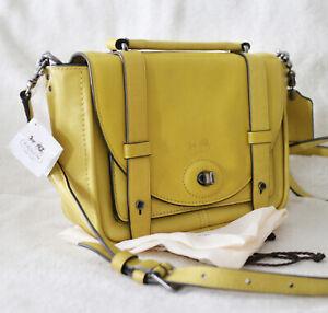 NWT Coach Purse Leather BLEECKER Mini BROOKLYN Yellow Crossbody Bag NEW $358