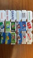 FLAVOR STRIPS 12oz CAN  PEPSI COKE SODA Vending Machine (18) LABELS