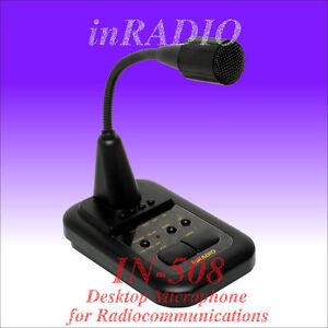 INRADIO IN-508 - MICROPHONE avec amplificateur pour ICOM KENWOOD YAESU ALINCO