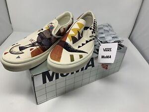 NEW Vans MOMA Orange By Vasily Kandinsky Classic Slip On Men's Size 13