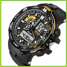 Military Mens Watches Waterproof Sports Watches LED Multifunctional Alarm Women