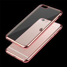 For iPhone Samsung Shockproof Clear Soft Silicone TPU Case Cover Tempered Glass