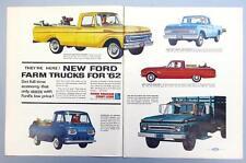 Original 1962 Ford Pickups Ad F-100, Falcon Ranchero, Econoline 2 page 21x14