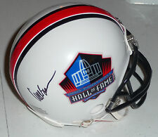 WILLIE BROWN Raiders Autographed Mini HOF Helmet including BDS COA #2340
