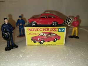 Lesney matchbox superfast rare volkswagen 67  transitional red scripted box NM🤩