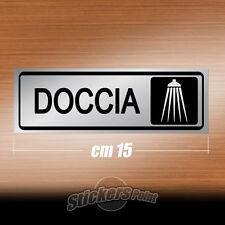 Adesivo pvc 36 - DOCCIA - etichetta segnaletica ARGENTO