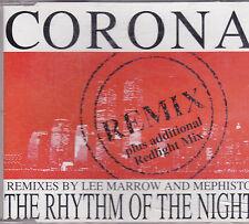 Corona-The Rhythm  of the Night Remixes cd maxi single italo dance 7 tracks