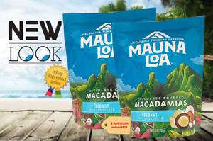 LOT OF 2 BAGS Mauna Loa COCONUT MILK CHOCOLATE MACADAMIA NUT 28 oz. - NEW LOOK