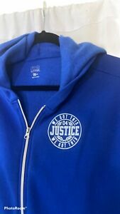Justice Active Wear Crop Long Sleeve Hoodie Teal Size 18/20