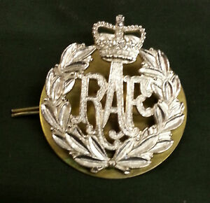 Royal Air Force Issue Cap / Beret Badge, Genuine RAF issue with backing plate