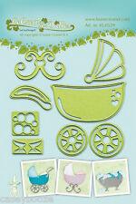 Lea'bilities Cutting & Embossing Die - Baby Pram - Stroller - Cradle - 45.0539