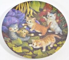 Cat Collectors Plate Kittens in the Vegetable Garden Kitty Imported German 1996