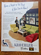 1945 Kroehler Furniture Ad Right to Be Proud 1945 Bendix Aviation Ad Hydrovac