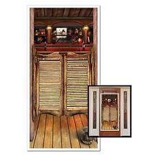 Wild West Saloon Plastic Door Cover - 76 x 152 cm - Western Party Decoration