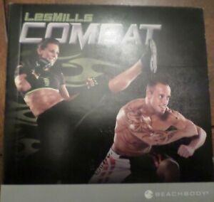 Beachbody Les Mills Combat 7 DVD Set Bodycombat Fitness Guide Kickbox Core HIIT