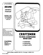 Craftsman 113.234610 Miter Saw Owners Instruction Manual