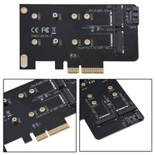 Key M.2 NG SSD zu PCI-E X4 2 Slot Adapter Konverterkarte mit 2x Blech /