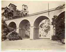 G.J. Monaco, chapelle et ravin Sainte Dévote  Vintage albumen print  Tirage al