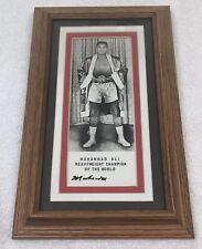 Muhammad Ali Signed Autographed Vintage Framed 4x6 Photo